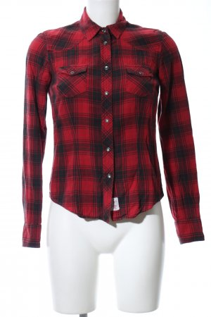 Tommy Hilfiger Checked Blouse red-black allover print casual look