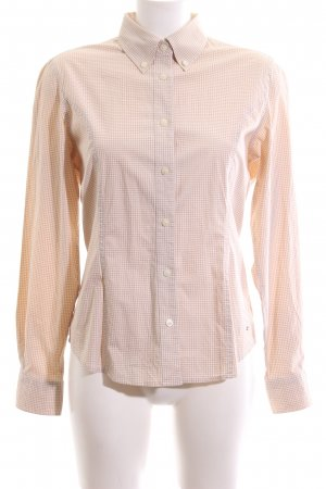 Tommy Hilfiger Checked Blouse nude-white allover print business style