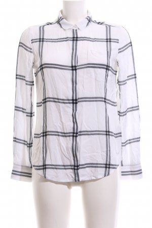 Tommy Hilfiger Checked Blouse white-black check pattern business style
