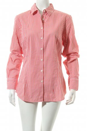Tommy Hilfiger Karobluse weiß-rot Karomuster Casual-Look