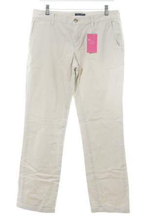 Tommy Hilfiger Karottenhose creme Webmuster Casual-Look