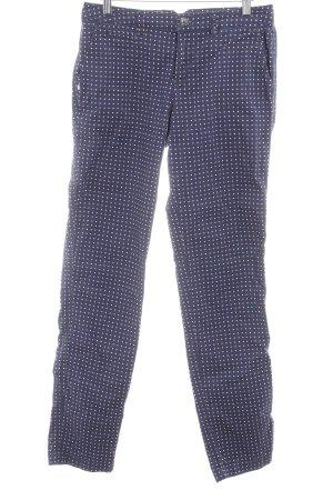 Tommy Hilfiger Pantalone peg-top blu scuro motivo a pallini stile casual