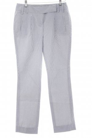 Tommy Hilfiger Karottenhose wollweiß-graublau Streifenmuster Casual-Look