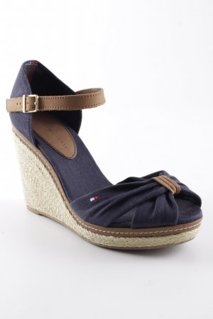 Tommy Hilfiger Wedge Pumps dark blue-light brown romantic style