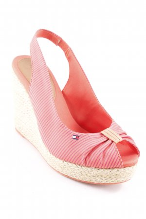 Tommy Hilfiger Keil-Pumps dunkelorange-purpur Streifenmuster Beach-Look