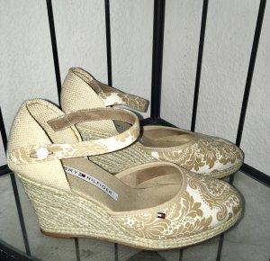 Tommy Hilfiger Keilabsatz Plateau Schuhe Sandaletten Original mit paisleymuster