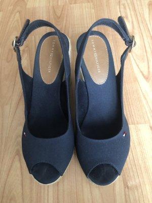 Tommy Hilfiger Platform High-Heeled Sandal dark blue-cognac-coloured