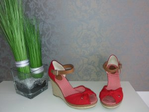Tommy Hilfiger Wedge Sandals red