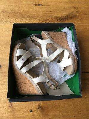 Tommy Hilfiger Platform High-Heeled Sandal natural white