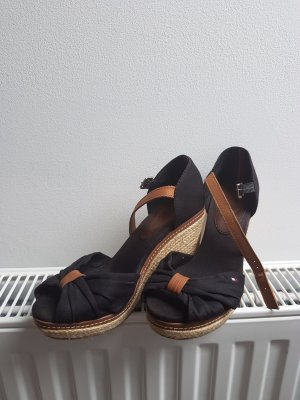 Tommy Hilfiger Wedge Sandals black-beige