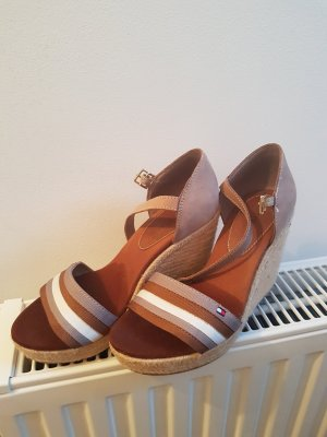 Tommy Hilfiger Wedge Sandals brown-beige