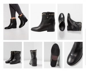 Tommy Hilfiger Booties black leather