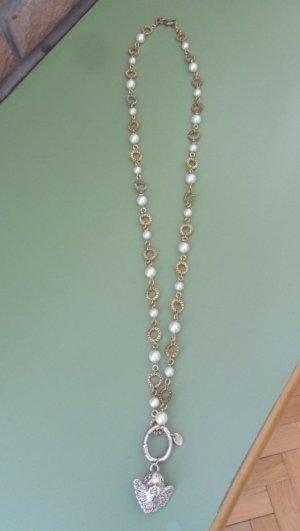 Tommy Hilfiger Kette, gold mit Perlen, lang, ohne Anhänger