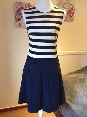 Tommy Hilfiger Midi-jurk wit-donkerblauw Viscose