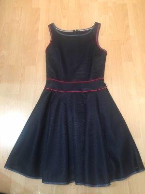 Tommy Hilfiger Denim Vestido con enagua azul oscuro-rojo oscuro