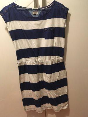 Tommy Hilfiger | Kleid mit kurzen Ärmeln | Blau-weiß gestreift | XS