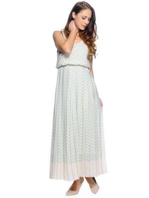 Tommy Hilfiger Kleid Sommerkleid Maxikleid Mint/Champagner