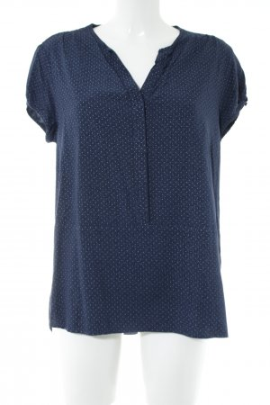Tommy Hilfiger Kurzarm-Bluse blau Allover-Druck Casual-Look