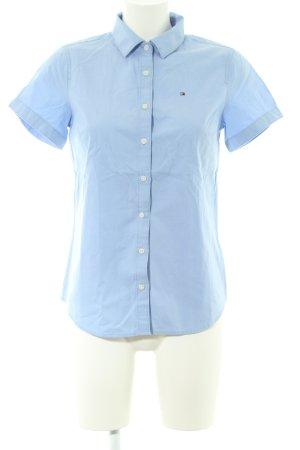 Tommy Hilfiger Blusa de manga corta azul estilo «business»