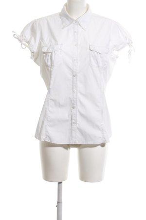 Tommy Hilfiger Kurzarm-Bluse weiß klassischer Stil