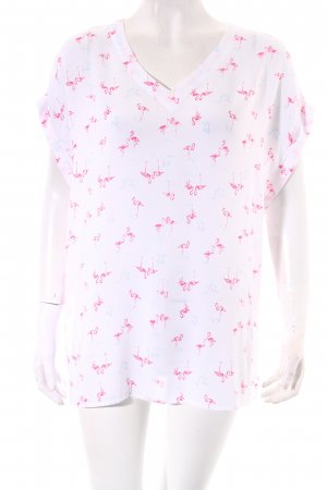 Tommy Hilfiger Kurzarm-Bluse Animalmuster Casual-Look