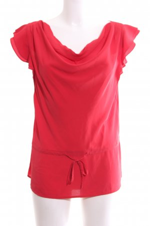 Tommy Hilfiger Kurzarm-Bluse rot Casual-Look