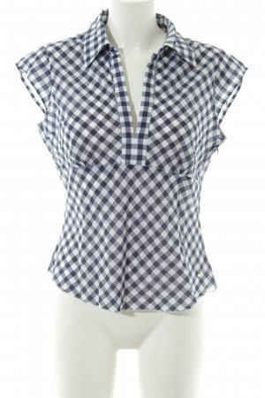 Tommy Hilfiger Short Sleeved Blouse white-blue check pattern casual look
