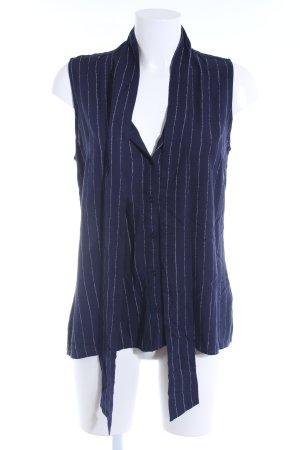 Tommy Hilfiger Kurzarm-Bluse dunkelblau-weiß Nadelstreifen