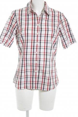Tommy Hilfiger Kurzarm-Bluse Karomuster Casual-Look