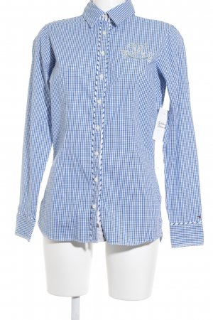 Tommy Hilfiger Short Sleeved Blouse petrol-white check pattern casual look