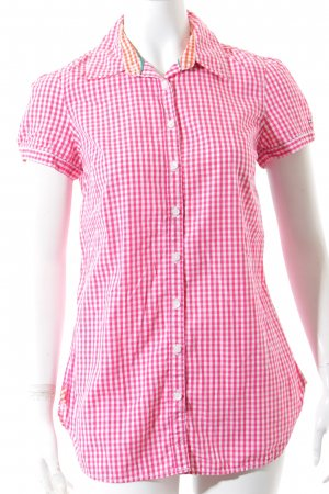 Tommy Hilfiger Kurzarm-Bluse pink-weiß Vichykaromuster Country-Look
