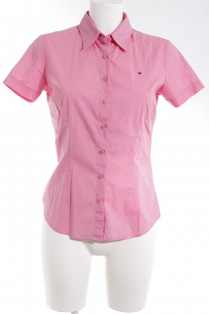 Tommy Hilfiger Kurzarm-Bluse rosa Casual-Look
