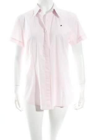 Tommy Hilfiger Kurzarm-Bluse rosa-weiß Karomuster Business-Look