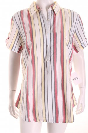Tommy Hilfiger Kurzarm-Bluse Streifenmuster Casual-Look