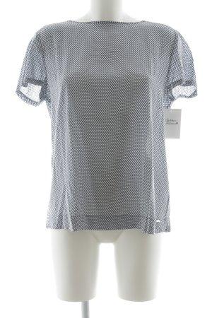 Tommy Hilfiger Camicetta a maniche corte bianco-blu scuro motivo grafico