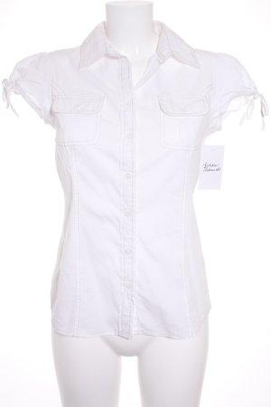 Tommy Hilfiger Blusa de manga corta blanco estilo clásico