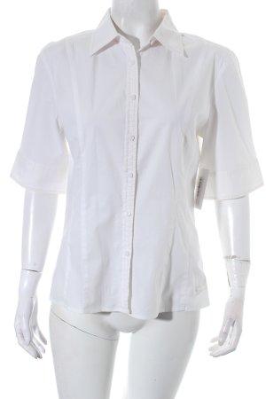 Tommy Hilfiger Kurzarm-Bluse weiß-rosa klassischer Stil