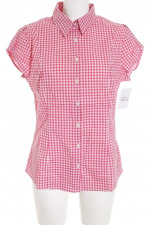 Tommy Hilfiger Kurzarm-Bluse weiß-rot Karomuster Casual-Look