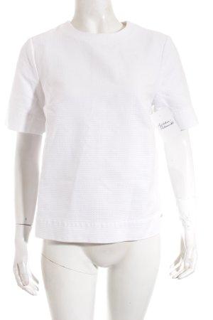 Tommy Hilfiger Kurzarm-Bluse weiß schlichter Stil