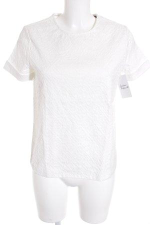Tommy Hilfiger Kurzarm-Bluse wollweiß schlichter Stil