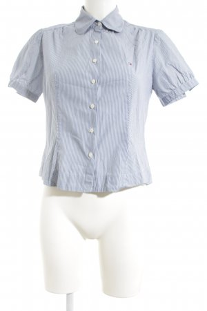 Tommy Hilfiger Short Sleeve Shirt white-blue striped pattern business style