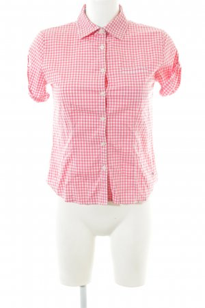 Tommy Hilfiger Short Sleeve Shirt white-pink check pattern simple style