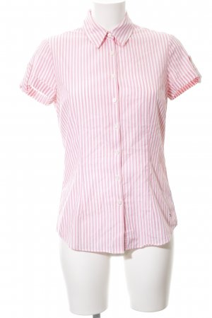 Tommy Hilfiger Short Sleeve Shirt pink-white striped pattern business style