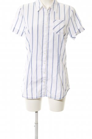 Tommy Hilfiger Short Sleeve Shirt white-blue striped pattern casual look