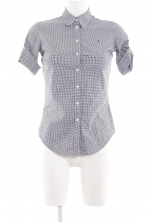 Tommy Hilfiger Short Sleeve Shirt white-blue check pattern casual look