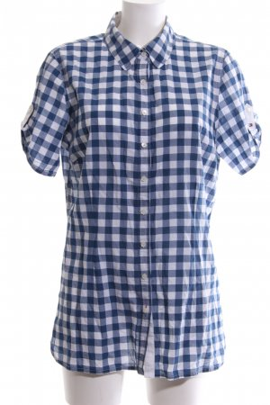 Tommy Hilfiger Short Sleeve Shirt blue-white check pattern casual look