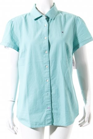 Tommy Hilfiger Short Sleeve Shirt sage green casual look