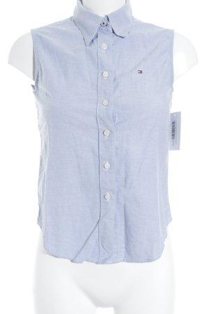 Tommy Hilfiger Kurzarmhemd hellblau meliert klassischer Stil