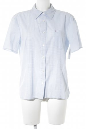 Tommy Hilfiger Short Sleeve Shirt azure-white check pattern casual look