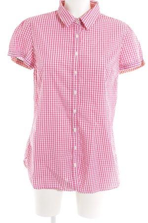 Tommy Hilfiger Chemise à manches courtes magenta-blanc motif à carreaux